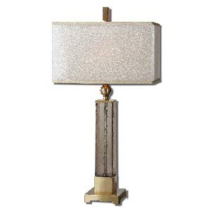Uttermost 26583-1 Caecilia Amber Glass Table Lamp, Golden Champagne