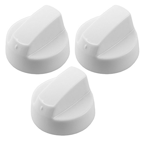 Spares2go Universal White Control Knobs For All Makes And Models Of Bosch Oven Cooker & Hob (Pack Of 3 + 15 Adaptors)
