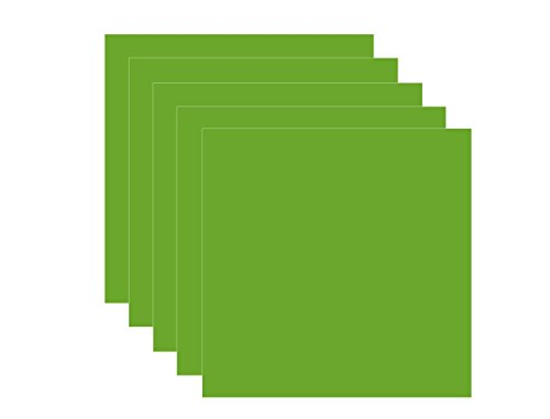 Lime Green (glossy) 5-pack of adhesive vinyl sheets - 12