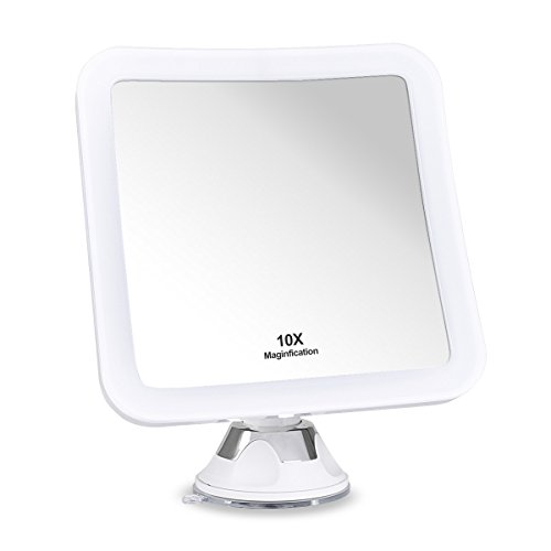 Glam Hobby 10X Magnifying Lighted Makeup Mirror, Daylight LED Travel Vanity Mirror -