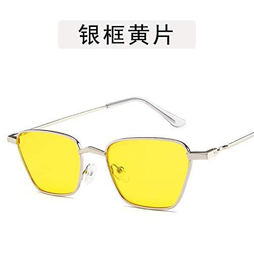 Yangjing-hl Gafas Labios Gafas Metal Metal Personalidad ...