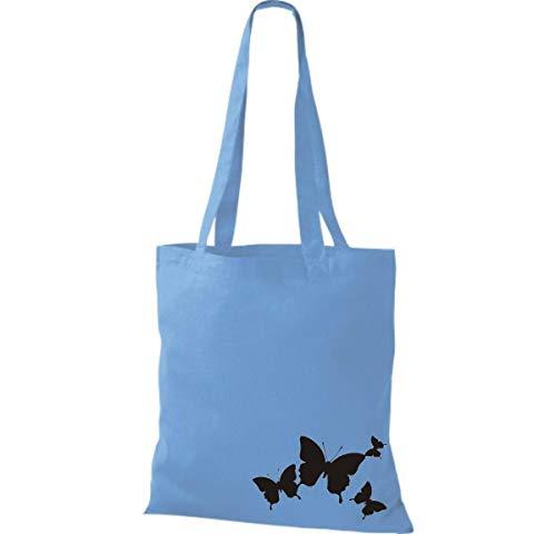Bolsa Mariposa Claro Divertido Shirtinstyle Animales Tela De Algodón Azul 7dwvqpFf