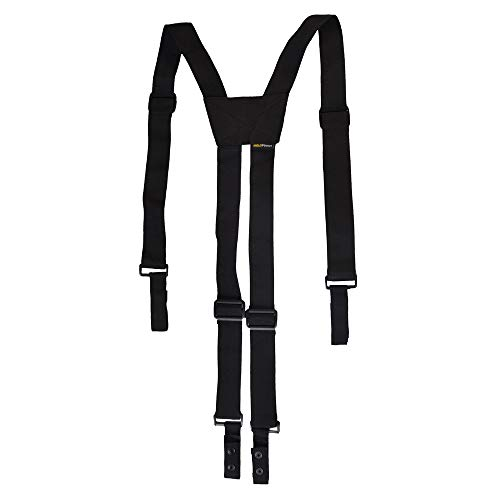 Outdoor Research Suspenders - Nylon Police Suspenders for Duty Belt, Adjustable Tactical Duty Belt Harness For Duty Belt, 4 Loop Attachment,Black