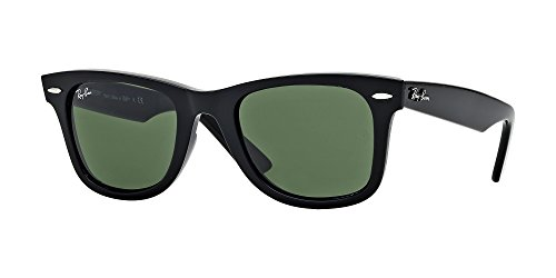 Ray Ban RB2140 WAYFARER 901 54M Black/Crystal Green Sunglasses For Men For ()