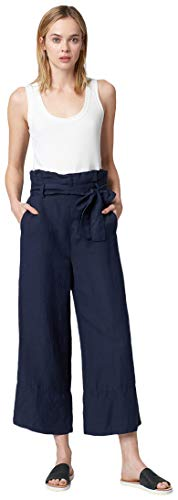 Blank NYC Women's Linen Belted Pants in Navy Navy X-Small 24