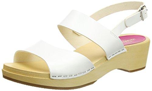 white Swedish Hasbeens Aperta Donna Sandali Bianco Punta Helena ng0F1gBwqS