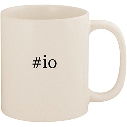 #io - 11oz Ceramic Coffee Mug Cup, White