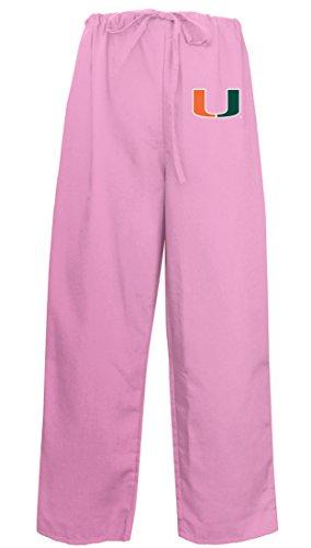 - Ladies University of Miami Pants Miami Canes Scrubs - Bottoms for Women Pink