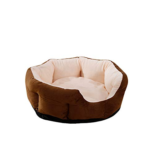 (Dog Bed Dog House with Soft Warm Pad Cushion Mat Small Medium Dog Cats Kennel S~XL Pet Product Machine Washable)