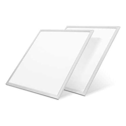 LVWIT 2x Panel LED 60x60cm 42W equivalente a Fluorescente 80W 4000 lúmenes Color Blanco Frío 6500K Pack de 2 Unidades