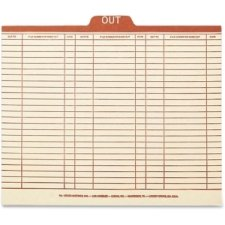 Smead 51910 Manila Out Guides with Printed Form Style - Letter - 8.50'' Width x 11'' Length Sheet Size - Center Tab Location - 18 pt. - Manila - Red - 100 / Box by Smead