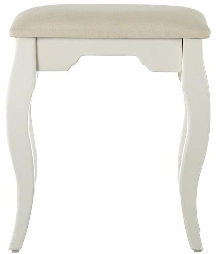 Emilee' s Vanity Bench, 19Hx17Wx13.5D, WHITE