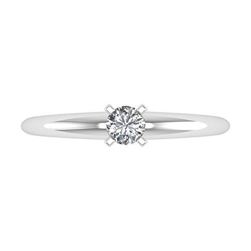 IGI Certified 14k Gold Solitaire Diamond Engagement Ring Band (1/4 Carat)