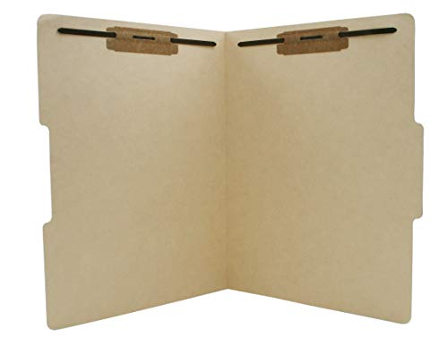 TAB Manila Folder with Single Ply Top Tab and Fasteners – Letter, 1/3 Cut Center Tab Position, 11 pt, 50/Box