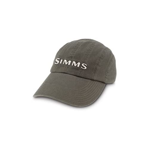 Simms 8 panel washed twill long bill cap for Long bill fishing hat