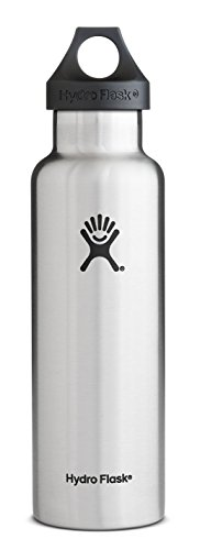 Hydro Flask Insulated Stainless Steel Water Bottle, Standard Mouth, Stainless, 21 Ounce