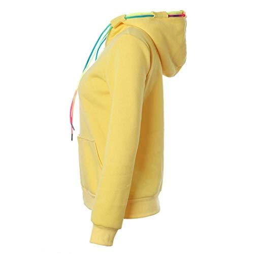 Sweat Femme Outerwear Longues Poches Elgante Cordon Pulls Manches Uni Costume De Avant Capuche Casual Slim Pullover Fermeture Manche Mode Hoodys Automne clair Serrage E Fit Confortable wSw1Iq