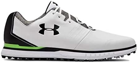 Wide (E) メンズ Showdown SL Golf Shoes ゴルフシューズ White/Black スパイクレス ワイド 幅広_27.5 [並行輸入品]