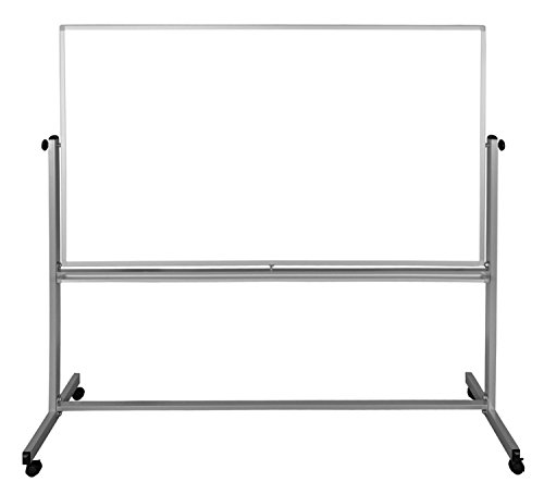 Luxor 72''x48'' Double-Sided Mobile Magnetic Whiteboard by Luxor