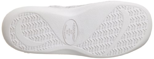 Isotoner Womens Terry Embroidered Scalloped Clog, Heather Grey, 7.5/8