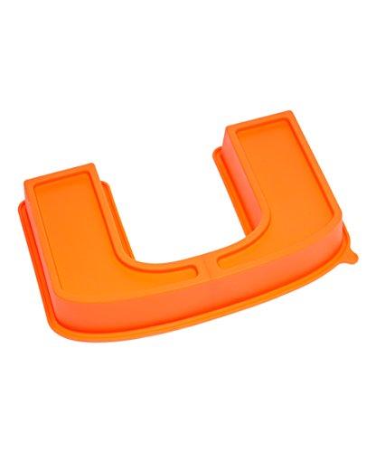 NCAA Miami Hurricanes Cake Pan with Stand, One Size, Orange