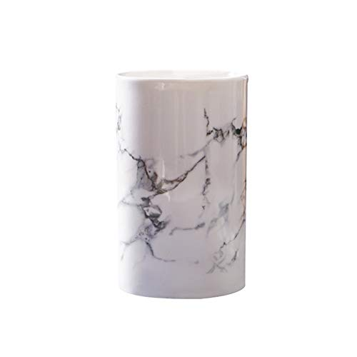 Kelake Ceramic Bathroom Tumbler Cup for Mouthwash Rinsing,Toothbrush and Toothpaste Holder Stand,Porcelain Milk Cup 350ml