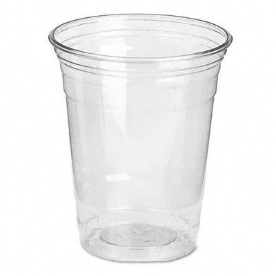 Dixie CP12DX Clear Plastic PETE Cups, Cold, 12oz, WiseSize, 25/Pack, 20 Packs/Carton ()