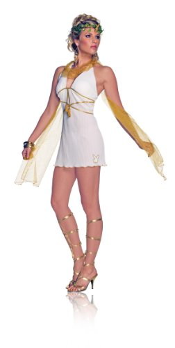 Secret Wishes Women's Playboy Goddess Costume, White/Gold, Small (Egyptian Women Costume)
