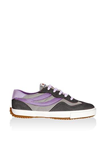 Superga 2832-NYLU Zapatillas de ante, Unisex - Adulto Púrpura (Grey/Lt Grey/Violet)