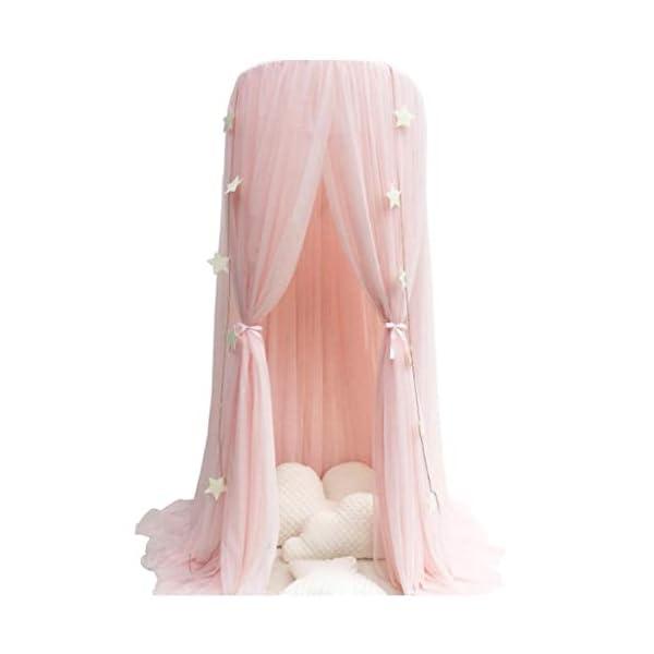 Bulawlly Principessa Letto Letto a baldacchino zanzariera, Tenda del Gioco Decorazione della Stanza, zanzara della Rete… 1 spesavip