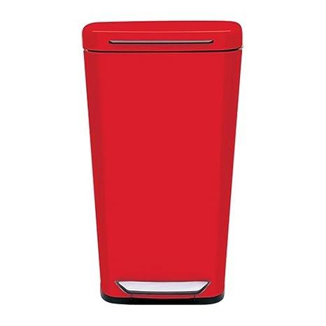 Amazon.com: OXO Good Grips Red Steel Rectangular Trash Can ...