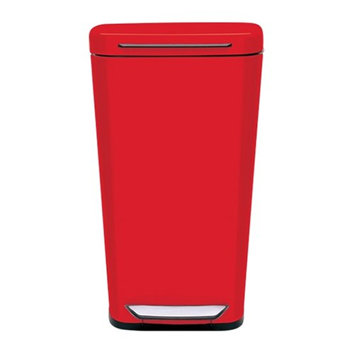 Amazon.com: OXO Good Grips Red Steel Rectangular Trash Can, 10 Gallon: Home  U0026 Kitchen