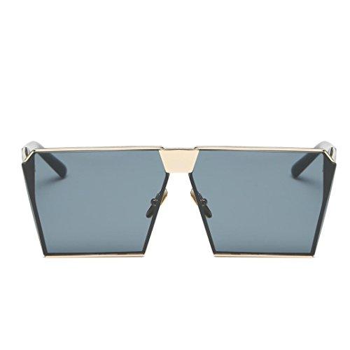 Lente Espejo Moda sol de Gafas D Mujeres Aviator VENMO Exterior Hombres de Para Rectángulo q4TXwnp