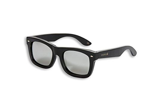 mawaii modèle iraira AO Polarized lenses-fgv (Feel Good Vision)–avec box et sacs microfibre lunettes de soleil bambou, noir, L