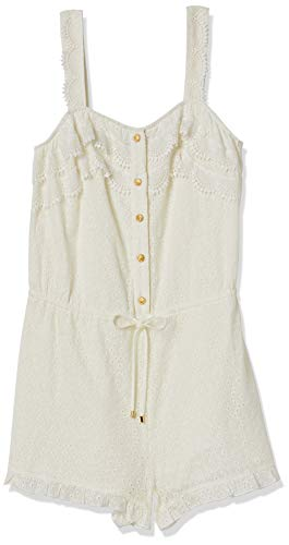 Sperry Women's Button Down Romper, Star White, Large