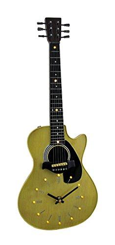 Zeckos Sounds of Time Acoustic Guitar 16 LED Wall Clock Sculpture 21 Inch