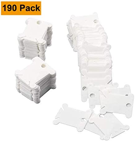 Alyoen - 190 bobinas de hilo de plástico, para coser y guardar hilo o hilo de bordado, organizador, para manualidades, para coser