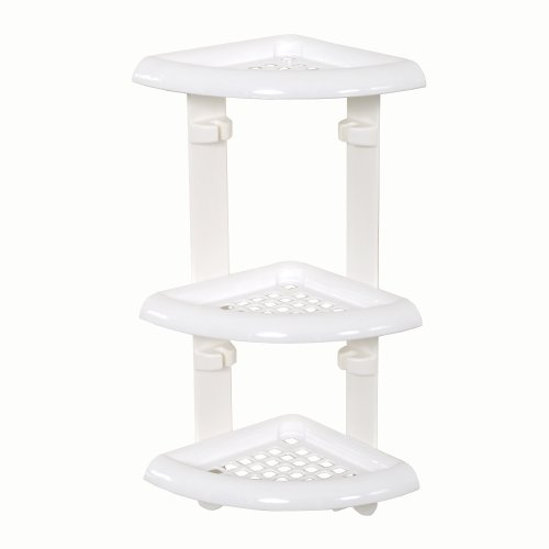 Amazon.com: Zenna Home 480W, Corner Bath and Shower Caddy, White ...