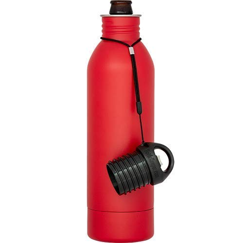 (BottleKeeper - The 22oz Bomber 2.0 - The Original Stainless Steel Bottle Holder and Insulator to Keep Your Beer Colder (Red))