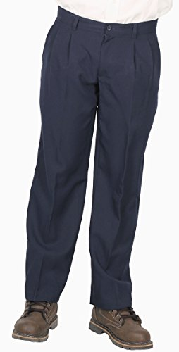 Geoffrey Beene Men's Dress/Casual Pleated Pant, Navy, Size 40x32