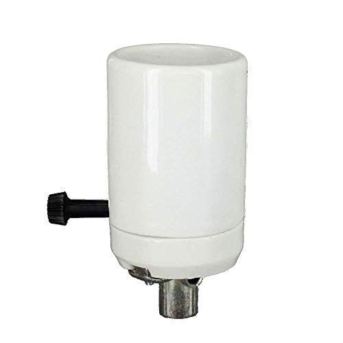 Upgradelights Mogul Base 3-way Porcelain Lamp Socket with Hickey (Visual Comfort Black Antique Floor Lamp)