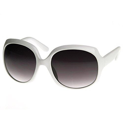 zeroUV - Designer Inspired Large Round Fashion Womens Oversized Sunglasses - Sunglasses 90