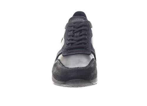Uomo 41 In Blu Giardini Pelle Sneaker Nero wvxAZIC