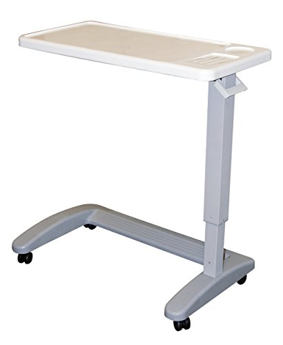 Carex Overbed Table, Flat Rolling Overbed Table with Adjustable Height, for Eating, Working, Reading or (Overbed Tray)