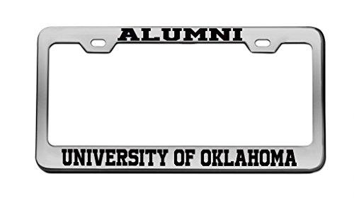 Alumni University of Oklahoma University Chrome License Plate Frame Tag Black