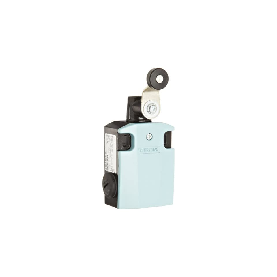 Siemens 3SE5 122 0LH01 International Limit Switch Complete Unit, Twist Lever, 56mm Metal Enclosure, 27mm Metal Lever, 19mm Plastic Roller, Snap Action Contacts, 1 NO + 2 NC Contacts