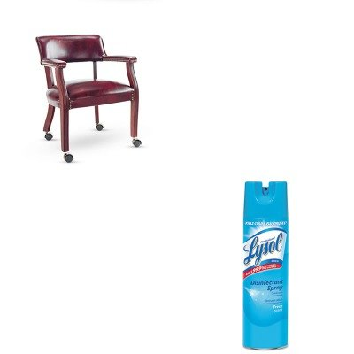 KITALECE43CVY31MYRAC04675EA - Value Kit - Best Traditional Series Guest Arm Chair w/Casters (ALECE43CVY31MY) and Professional LYSOL Brand Disinfectant Spray (RAC04675EA)