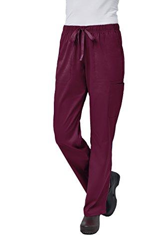 Elements by Alexander's Uniforms EL9305 Women's Half Elastic Waistband Four Way Stretch Scrub Pant (Wine, 2X-Large)