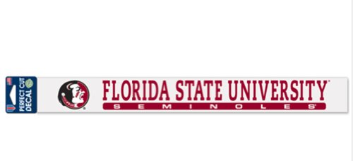 NCAA Florida State Seminoles Official 2''x17'' Color Perfect Cut Decal by WinCraft