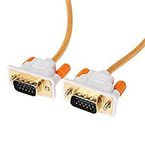 FJY VGA 3 +6 macho a macho Cable de vídeo OD 4.2mm naranja (1,5 M)